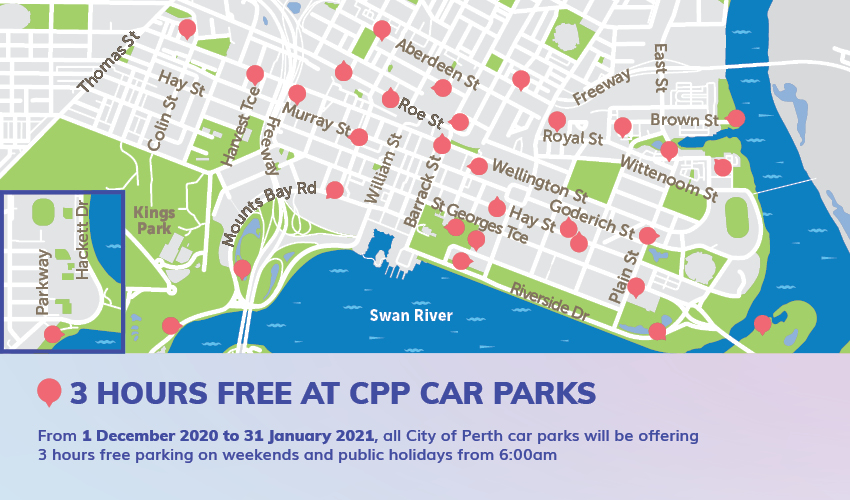 3 Hour Free Parking Weekends And Public Holidays City Of Perth Parking Cpp
