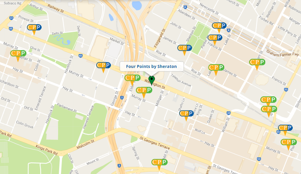 Four Points by Sheraton Location Map