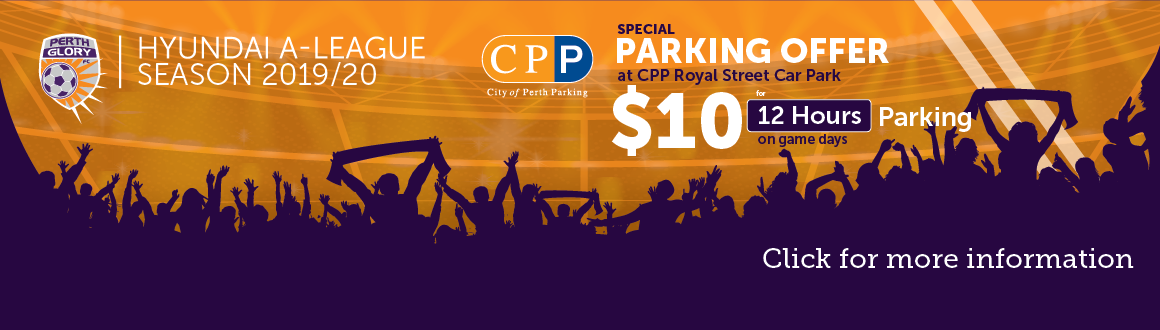 Perth Glory parking for $10